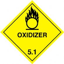 CT5.1L   Oxidizer 5.1 Placard/Container Label 300mm x 300mm Class 5